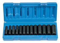 Grey Pneumatic 1213MD 3/8 inch Drive Deep Length Metric Socket Set