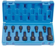 "Grey Pneumatic 1234T 1/4"", 3/8"", 1/2"" Drive Internal Torx Socket Set"