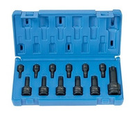 Grey Pneumatic 1235TT 1/4 i In, 3/8 In, 1/2 In Tamper-Proof Torx Socket Set