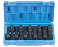 Grey Pneumatic 1498MH 1/2 In Drive Metric Hex Driver Impact Socket Set
