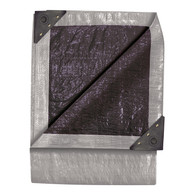 TEKTON 6292 6 Foot X 8 Foot Double Duty Tarp Silver And Black