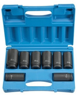 Grey Pneumatic 8134MD 3/4 in Drive Deep Length Metric Impact Socket Set