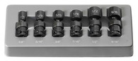 "Grey Pneumatic 9706U 1/4"" Standard Fractional Universal Impact Socket Set"