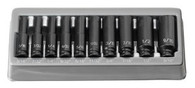 Grey Pneumatic 9710D 1/4 In Deep Length Fractional Impact Socket Set
