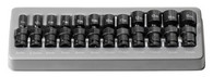 "Grey Pneumatic 9712UM 1/4"" Drive Standard Metric Universal Impact Socket Set"
