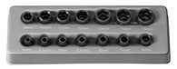 Grey Pneumatic 9714M 1/4 In Drive Standard Length Metric Impact Socket Set