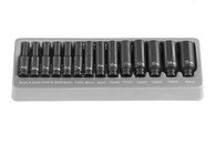 Grey Pneumatic 9714MD 1/4 In Drive Deep Length Metric Impact Socket Set