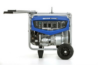 Yamaha EF7200DE 7200 Watt Premium Generator with Electric Start, handle extended.