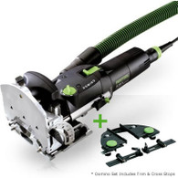 Festool 574432 Domino DF 500 Mortise and Tenon Joiner Set with T-Loc