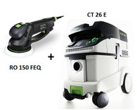 Festool P26571594 CT 26 E/RO 150 FEQ Sander Package Deal
