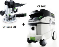 Festool P26574266 CT 26 E/OF 1010 EQ Package Deal