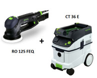 Festool P36571536 CT 36 E/RO 125 FEQ Sander Package Deal