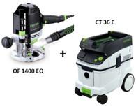 Festool P36574267 CT 36 E/OF 1400 EQ Package Deal