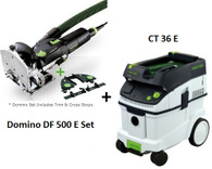 Festool P36574308 CT 36 E/Domino 500 Q Set Package Deal