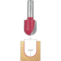 Freud 18-126 Round Nose Router Bit 1 Inch 1/2 Inch Shank