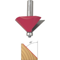Freud 40-118 Chamfer Router Bit 45-Degree Angle 1/2-Inch Shank