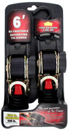 Erickson 34413 1 In X 6 Ft Black Retractable Ratcheting Tie-Down Strap