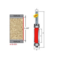 Freud 50-501 Top/Bottom Bearing Flush Trim Router Bit 1/2 In Dia 1/4 In Shank
