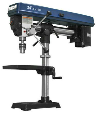 Rikon 30 140 34 Inch Bench Top Radial Drill Press