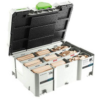Festool 498204 Assorted Beech Domino Tenon Systainer Set for XL DF 700 8/10 mm
