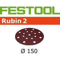 Festool 499124 Rubin 2 P220 Grit Abrasives for ETS 150, RO 150, and LEX 150 Sanders - 50 pack