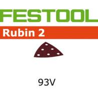 Festool 499167 Rubin 2 P120 Grit Abrasives for DX 93 and RO 90 Sanders - 50 pack