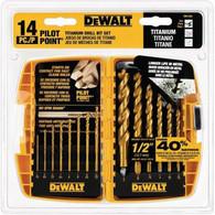 DeWalt DW1354 Titanium Drill Bit Set - 14 Piece