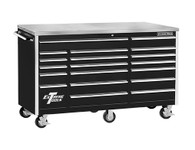 Extreme Tools EX7218RCBK 72 In 18 Drawer Standard Series Roller Tool Cabinet - Black