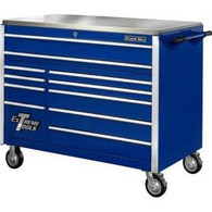 Extreme Tools EX5511RCBL 55 in. 11 Drawer Professional Roller Tool Cabinet - Blue