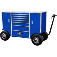 Extreme Tools TXPIT7009BK 70 in. Mobile Pit Box with 7 Drawers and 2 Side Compartments - Blue