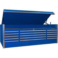 Extreme Tools EX7215CHBL 72 in. 15 Drawer Triple Bank Professional Top Chest - Blue