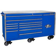 Extreme Tools EX7612RCBL 76 in. Professional Roller Tool Cabinet - Blue