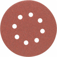 Porter Cable 735800800 5 in. 8-hole 80 Grit Hook and Loop Sanding Disc - 100 Pack