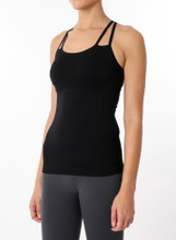 Quantum Double Strap Cami Black | Womens Tanks