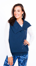 Frankie Overtop in Retro Blue | Violent Orange at Fire and Shine | Womens Jackets and Hoodies