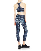 Riley Crop in Black Marble | Vie Active at Fire and Shine | Womens Capris