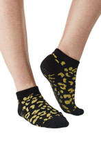 Black Leopard Metallic Non-Slip Socks | Move Active at Fire and Shine | Accessories