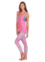 Flex Tank in Pink Wave | Nux at Fire and Shine | Womens Tanks