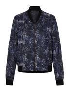 Lauren Jacket Blue Leopard | Vie Active at Fire and Shine | Jackets