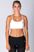 Gelato Push Up Crop White | Running Bare at Fire and Shine | Womens Crops