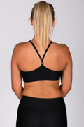 Gelato Push Up Crop Black | Running Bare at Fire and Shine | Womens Crops