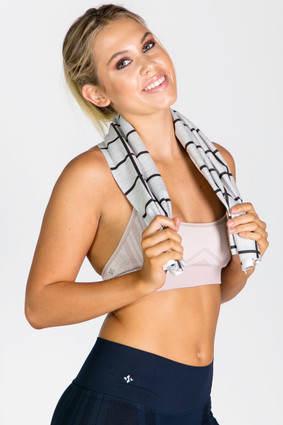 Rookie Towel Black Grid | Tomboy Sport at Fire and Shine | Accessories