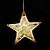 Star Ornament - Brown Glass