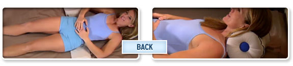 Use behind back for extra lumbar support