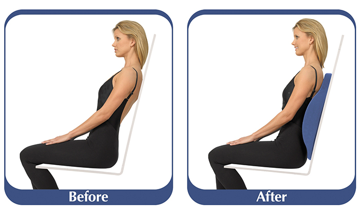 chair support lumbar pad freedom back cushion
