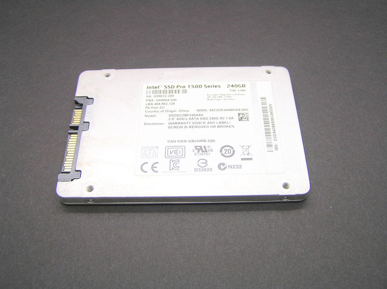 """Intel SSD Pro 1500 240GB SSDSC2BF240A4L 2.5/"""" SATA 6Gb//s"""