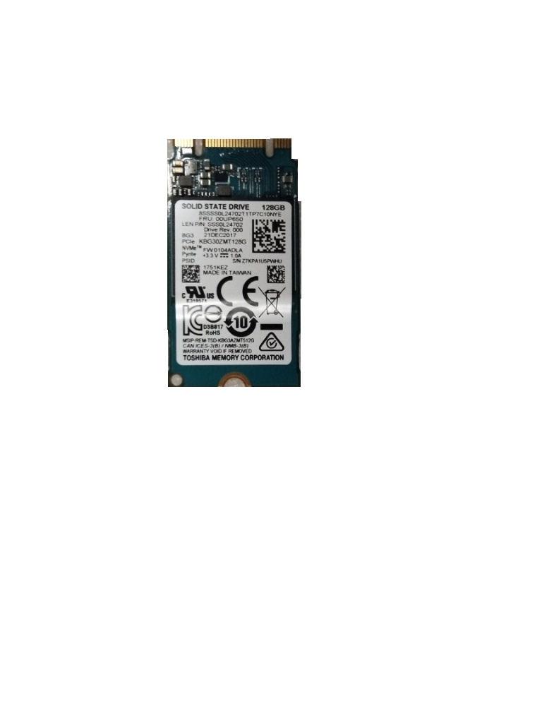 New Genuine Lenovo ThinkPad M 2 PCIe NVMe M 2 BG3 128GB SSD 00UP650