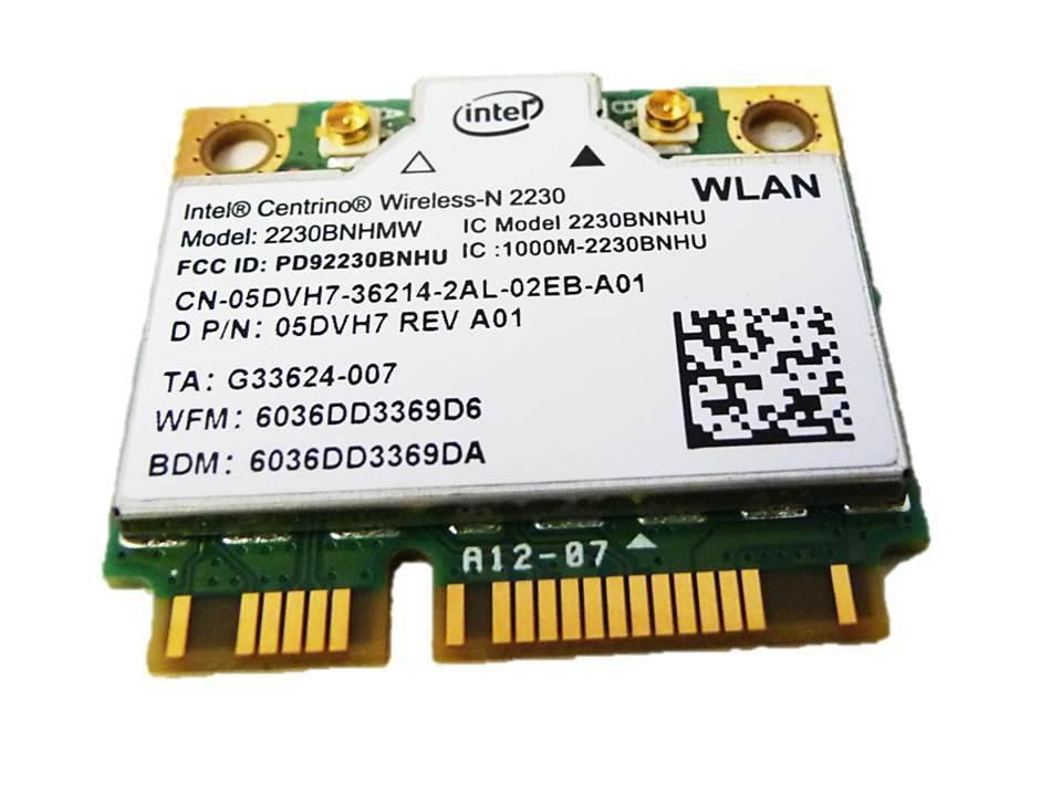 Dell Inspiron 15r 5521 WiFi Bluetooth Wireless Card 2230BNHMW 05DVH7