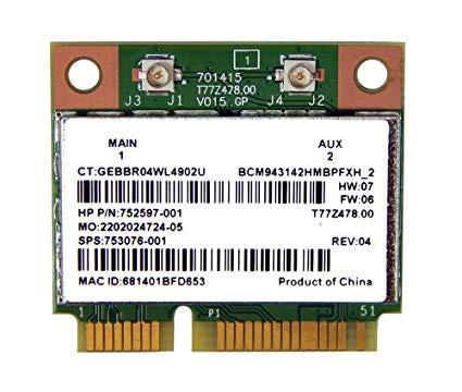Broadcom BCM43142 802 11 bgn Wi-Fi and Bluetooth 4 0 HMC
