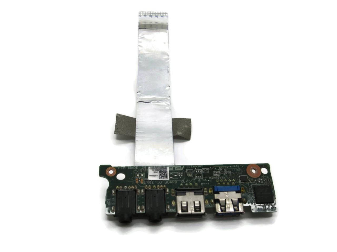 Asus U46E Audio USB Port Board with Cable 69N0LDB10E03-01 69N0LDB10E02-01